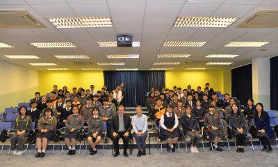 劉進圖先生 - 香港傳媒面對的挑戰和機遇講座 (23/01/2018)的相片