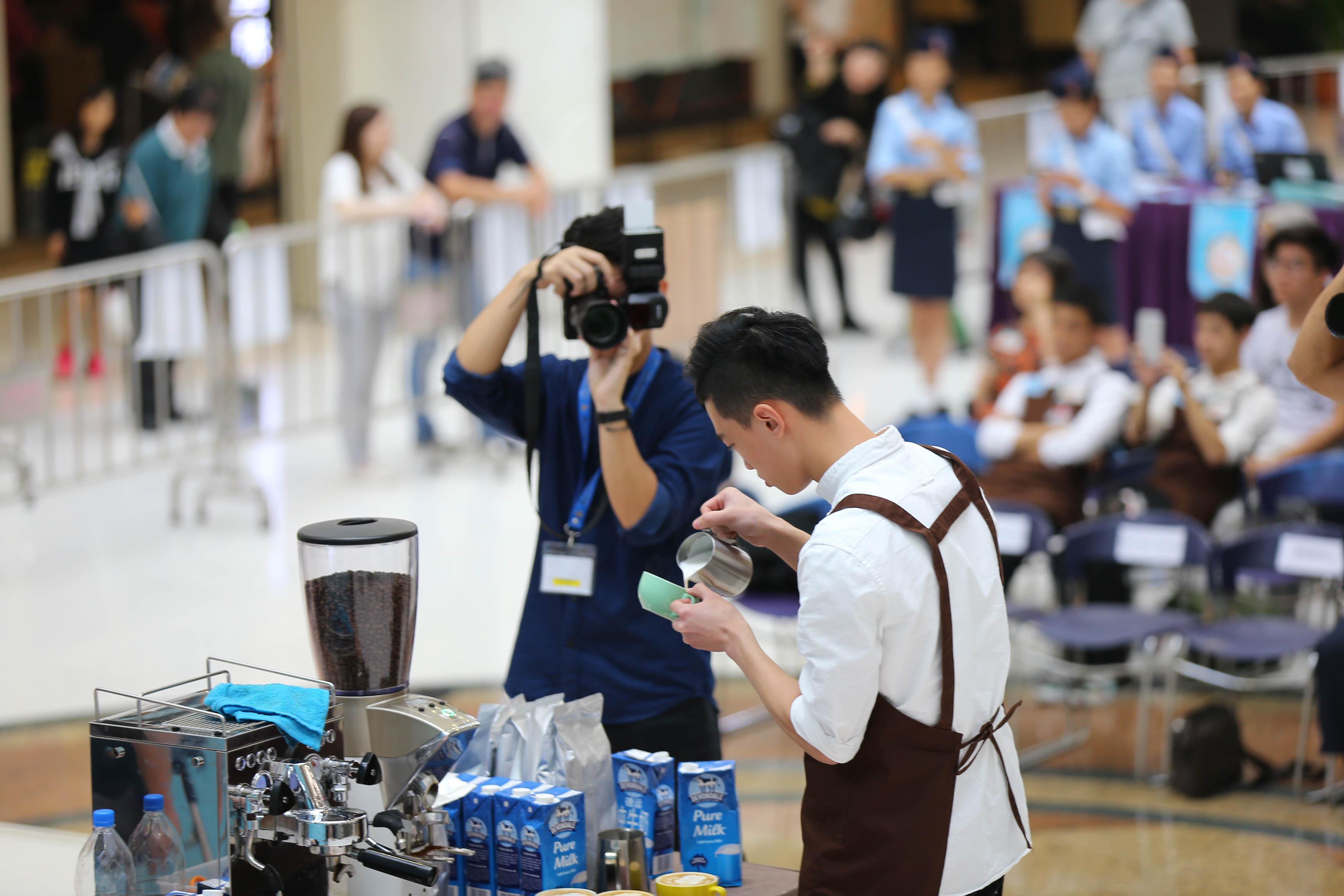 天主教慈幼會伍少梅中學的全港學界咖啡拉花比賽2016 相片3