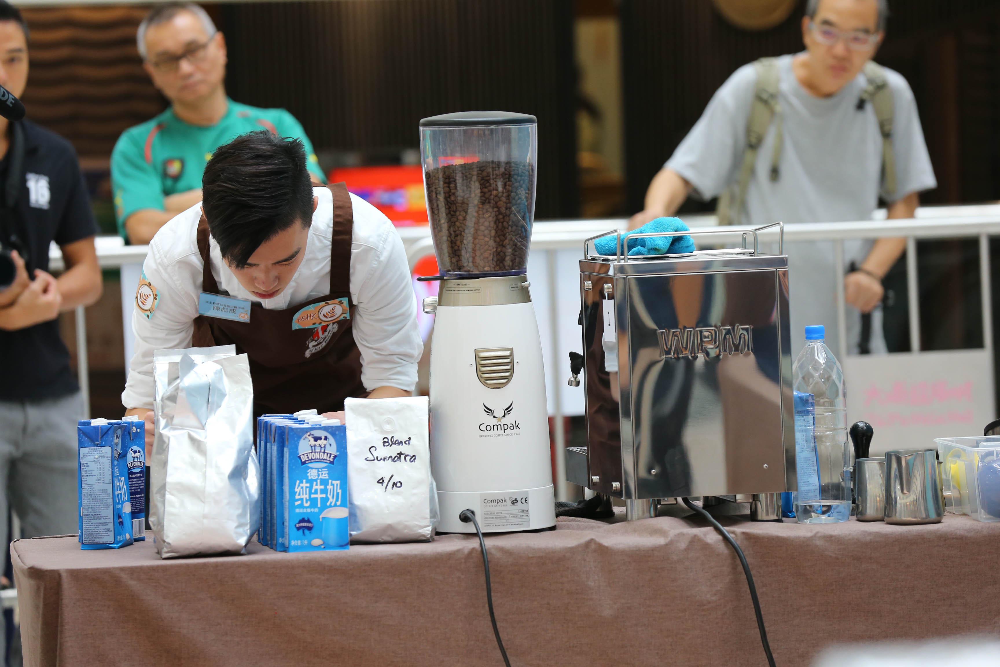 天主教慈幼會伍少梅中學的全港學界咖啡拉花比賽2016 相片1