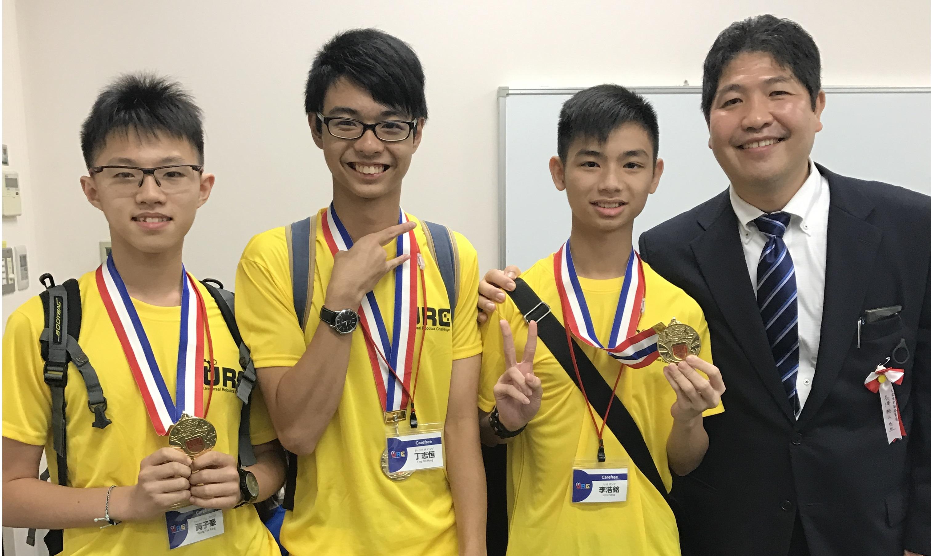 天主教慈幼會伍少梅中學的日本機械人比賽 - Universal Robotic Challenge 最佳設計獎相片11